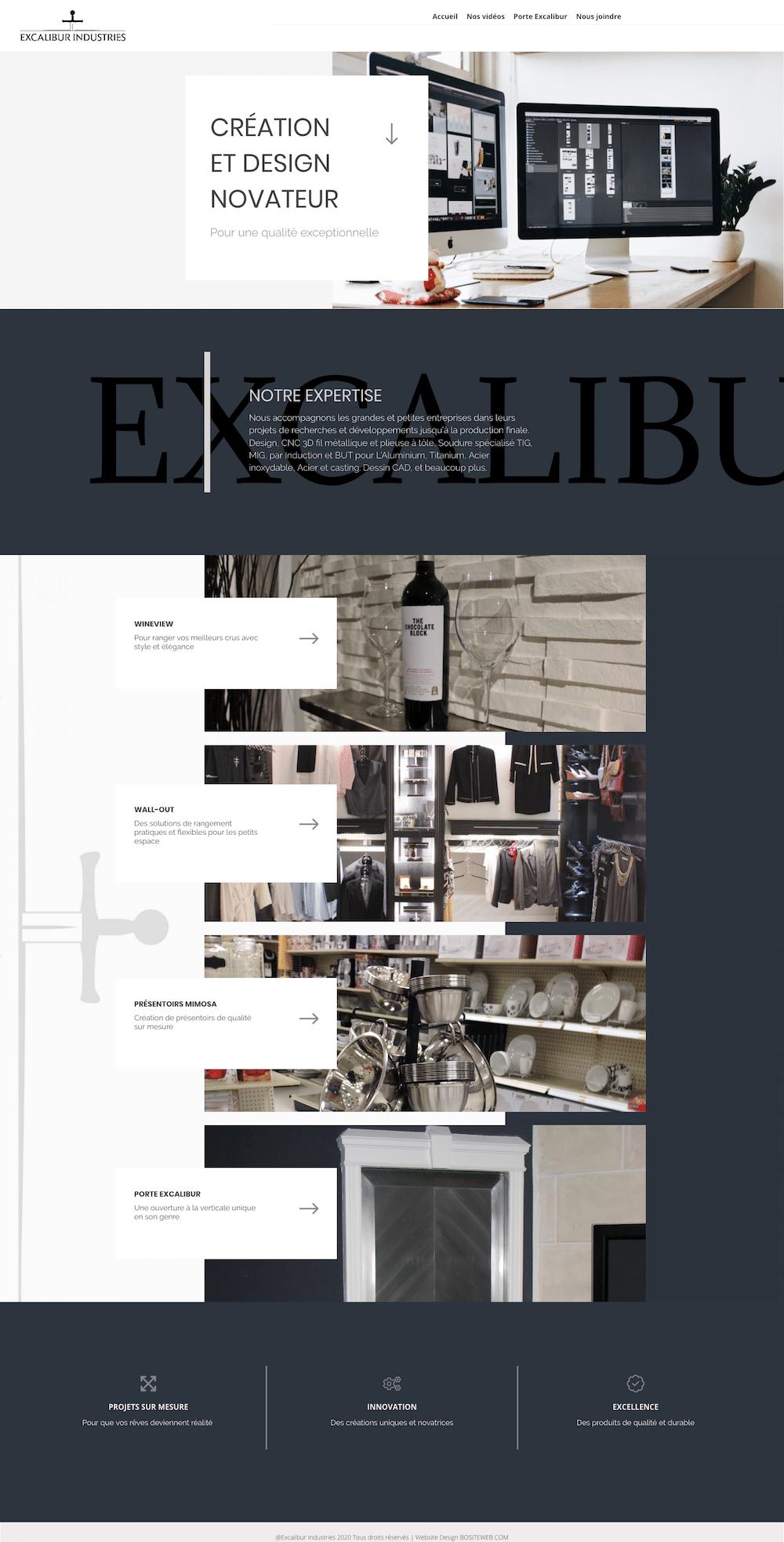 Site web d'Excalibur